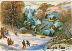 Wesołych Świąt na sankach