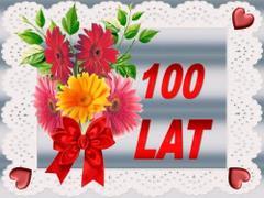 100 lat - kwiatki
