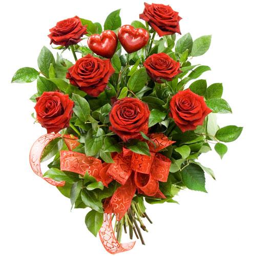 Róże ze wstążką