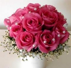 Róże z koralami