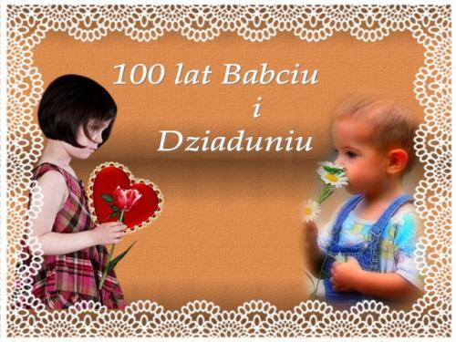 100 lat babciu i dziaduniu