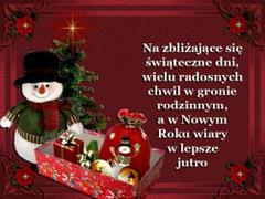 Na zbliżające się świąteczne dni...