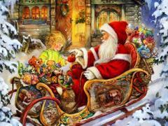 Mikołaj na saniach