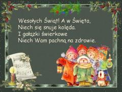 Wesołych Świąt a w Święto...