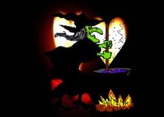 Czarownica z miotłą