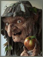 Wiedźma z jabłkiem