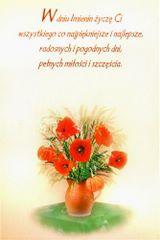 W dniu imienin życzę Ci...