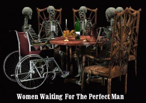 Woman waiting...