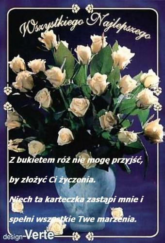 Z bukietem róż nie mogę przyjść...