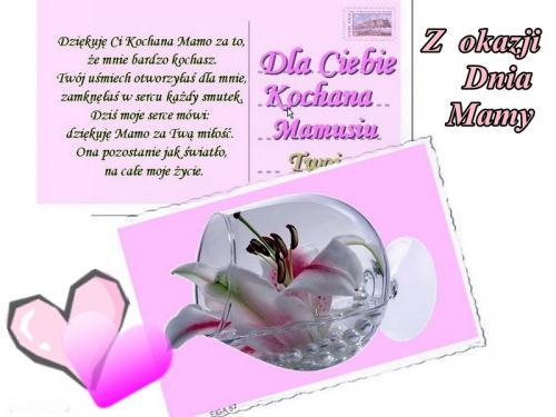 Dla Ciebie kochana mamusiu !