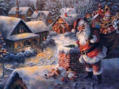 Mikołaj przy kominie