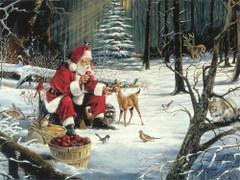 Mikołaj z jeleniem