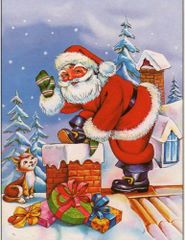 Mikołaj wchodzący do komina