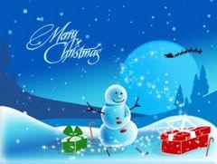 Merry Christmas z bałwankiem