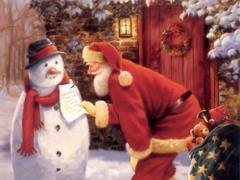 Mikołaj z bałwanem