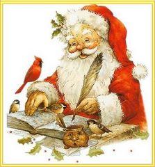 Mikołaj z piórem w ręku