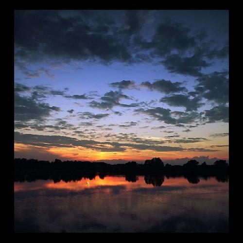 Kartka z zachodem słońca