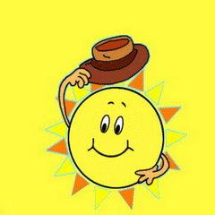 Słońce z kapeluszem