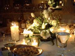 Stół szampan kwiatki