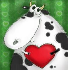 Krowa z sercem