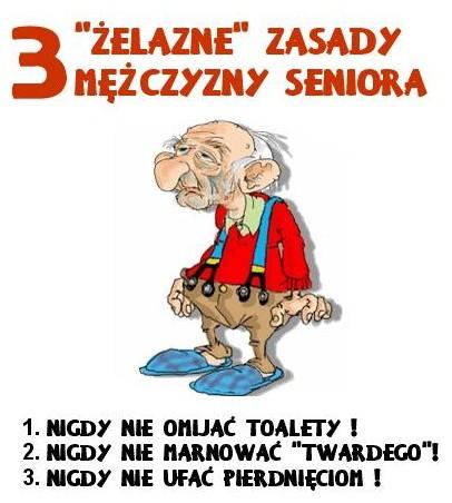 3 żelazne zasady seniora